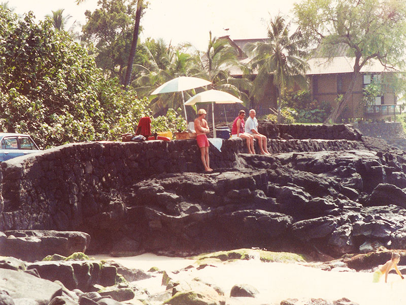 Dr Steven Andrew Martin - Hawaiian Handfins - 1989 Beach Lifeguarding and Bodysurfing in Kona, Hawaii